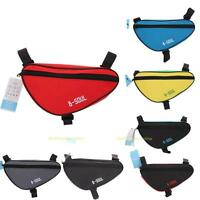 #QZO Triangle Cycling Bike Bicycle Front Tube Frame Pouch Bag Holder Saddle