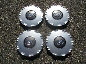 Factory 2002 to 2005 Hyundai Sonata alloy wheel center cap hubcaps set