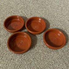 x4 Glazed Terracotta Spanish Style Tapas Dishes - Perfect for Sharing or Dining