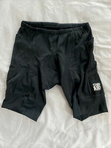 DeSoto Mens Mobius Tri Short Medium M 4 Pocket Worn Once! Triathlon Cycling