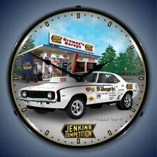 Chevy Jenkins 1969 Camaro ~ Retro Nostalgic Man Cave Backlit Lighted Wall Clock