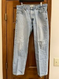 Levis 505 Jeans 36x30 Regular Fit Naturally Distressed rips & frays 100% cotton