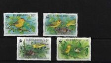 BARBADOS SG948/51, 1991 YELLOW WARBLER MNH SET