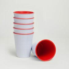 Barel Retro Red Melamine Cups 275mL (set of 6) Water, Juice & More!