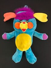 Vintage 1980s 1986 Popples Back Pack Blue Plush Characters from Cleveland