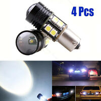 4x HID White BA15S 1156 25W Canbus CREE LED Bulbs Backup Reverse Light P21W S25