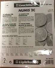 Lighthouse Numis 2c 165x107mm  coin pages-Pack of 5