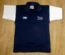 SALE SHARKS RUGBY-Classic Rugby Shirt-NEW-NAVY/WHITE Embroidered-38/40(MEDIUM)