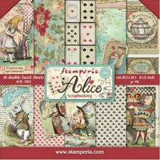 "Stamperia Alice 8 x 8"" Paper Pack - NEW RELEASE  ::  Alice in Wonderland Papers"