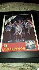 Los Chamos Rare Original Velvet Records Promo Poster Ad Framed!