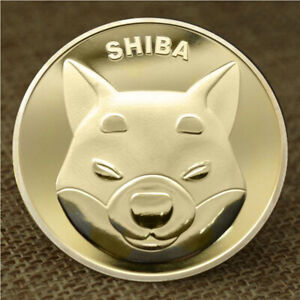 1pc GOLD SHIBA INU COIN CRYPTO COIN DOGECOIN KILLER SHIB COIN