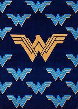 Justice League Wonder Woman Logo Plush Fleece Throw Blanket 46x60