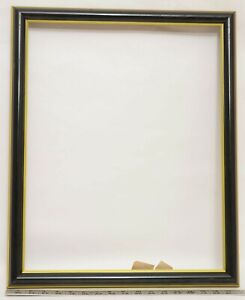 """Frame ~ Levin Company ~ To Fit A 16X20 Print ~ #95 ~ Black and Gold ~ 1¼ """" Wide"""