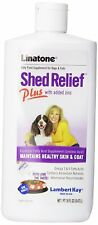 Linatone Shed Relief Plus Dog and Cat Skin and Coat Liquid Supplement, 16 Ounces