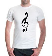 Herren Unisex Kurzarm T-Shirt Violinschlüssel Notenschlüssel Musik music