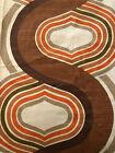 VINTAGE 60's 70's Mid Century Modern PANTON CURVE Retro Mod MCM BARKCLOTH Fabric
