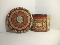 Nyakers Papparkakor Empty Tin Beautiful Bright Swedish Floral Design