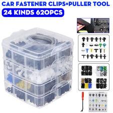 620pcs Universal Car Bumper Door Retainer Push Pin Rivet Fastener Clips Plastic