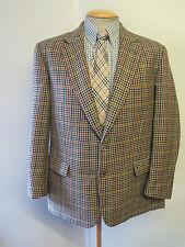 "Genuine Burberry men's brown houndstooth wool blazer Jacket 40"" R Euro 50"