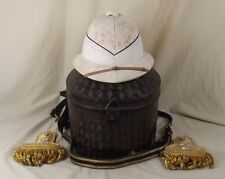 Circa WW2 Cased Royal Navy Pith Helmet, Epaulettes & Sword Belt
