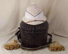 Circa WW2 Cased Royal Navy Pith Helmet, Epaulettes & Sword Belt