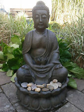 XXL Grosser Buddha Brunnen Ca 85 Cm Braun Inkl LED LICHT Und Pumpe Garten
