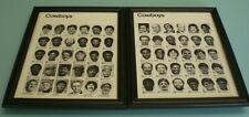 2 1979 SUPERBOWL XIII COWBOYS FRAMED TEAM ROSTER PRINTS
