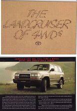 1990-91 TOYOTA LAND CRUISER SERIES 80 WAGON Australian Brochure Petrol & Diesel