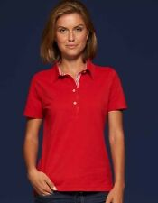 Mujer Polo Camiseta con Compruebe el uso Cotton S - 2xl JAMES + NICHOLSON