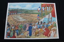 C682 Affiche scolaire vintage fête de la Fédération La fuire du roi à Varennnes
