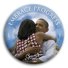 "Embrace Progress Barack Michelle Obama 2012 President Button Victory Democrat 3"""