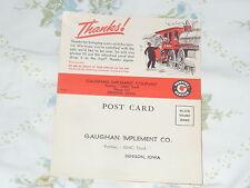 1949-1954 Pontiac Fold Over Customer Service Post Card - 'Thanks' - Train