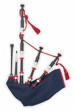 McCallum Fire Department themed highland bagpipes synthetic zip bag + chanter