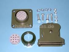 Einbausatz Nato-Steckdose 12-polig nach VG 96923 L002 mit Kontaktbuchsen