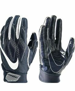 Nike Superbad Football Gloves Blue Silver White GF0653-439 Size: Medium, UNISEX