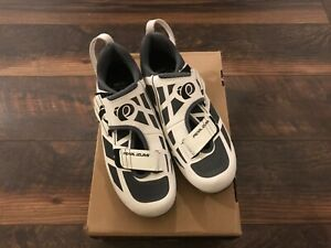 NEW Pearl Izumi Women's Sz 8.5M EU 40Tri Fly Select V6 Cycling Shoe White/Grey