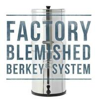 Factory Blemished Travel Berkey Water Filter w/ 2 Black Filters 1.5 Gal NEW