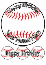 Cake Topper Birthday Baseball personal Rice paper,Icing fondant Sheet.1087