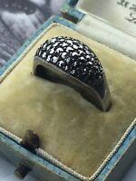 Vintage Jewellery Art Deco Marcasite Ring UK Q1/2