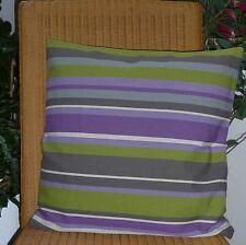 Kissenhülle gestreift Kissenbezug Streifen grün, lila, grau 50cm x 50cm