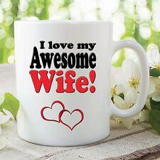 I Love My Awesome Wife Mug Best Friend Valentines Day Gift Wedding Cup WSDMUG314