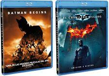 PELICULA BLURAY PACK BATMAN BEGINS + ELCABALLERO OSCURO 2 DISCOS