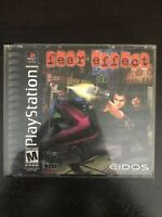 Fear Effect (Sony PlayStation 1, 2000) Free Shipping Great Condition