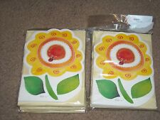 American Greeting Lot of 60 Blank Cards With Envelopes NEW Sunflower Ladybug