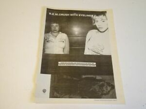 """R.E.M:  Crush with Eyeliner  1995  Full Page (12"""" X 16"""") UK NME Advert"""