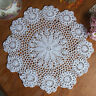 1pcs 15'' White Round Pure Cotton Handmade Crochet Lace Doily Placemat Mat