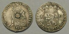 ☆ AUTHENTIC !! ☆ 1734 Colonial Silver Coin !! ☆ GREAT DETAIL !!