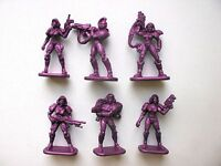 Set of 6 Women Felicia Special Force Fantasy Armored Infantry Toy Soldiers + gun