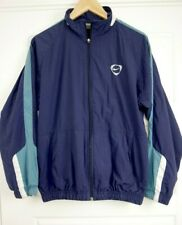 Vintage Men's Nike Windbreaker Navy Jacket Zip Football Small