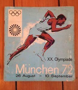 1972 Munich Olympic Album. 100% Complete. Good condition. Mega Rare Panini Album
